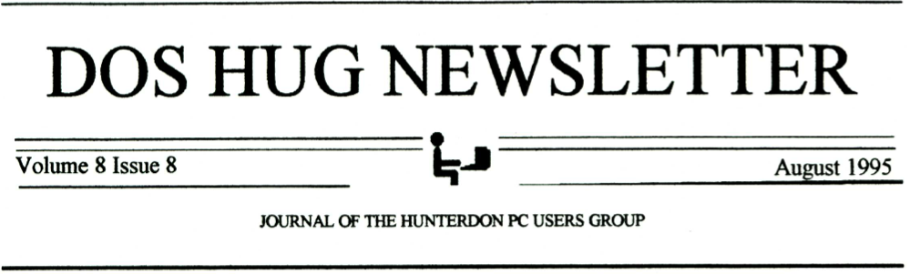 Hunterdon Computer Club August 1995 Newsletter Banner