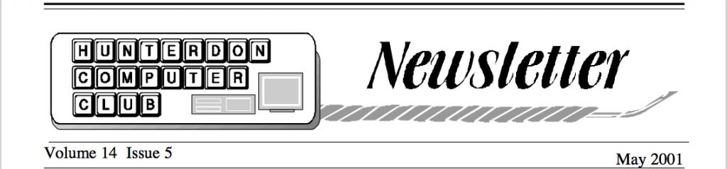 Hunterdon Computer Club May 2001 Newsletter