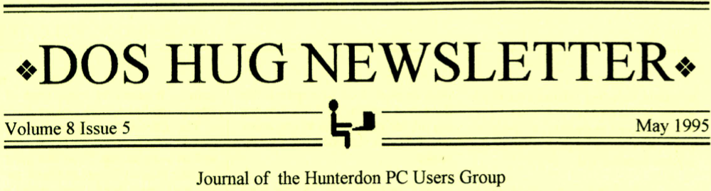 Hunterdon Computer Club May 1995 Newsletter Banner