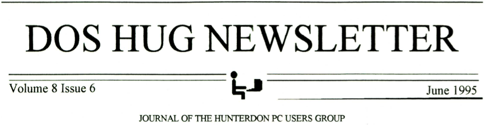 Hunterdon Computer Club June 1995 Newsletter Banner