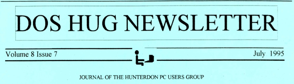 Hunterdon Computer Club July 1995 Newsletter Banner