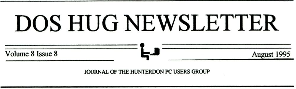 Hunterdon Computer Club August 1995 Newsletter Banner