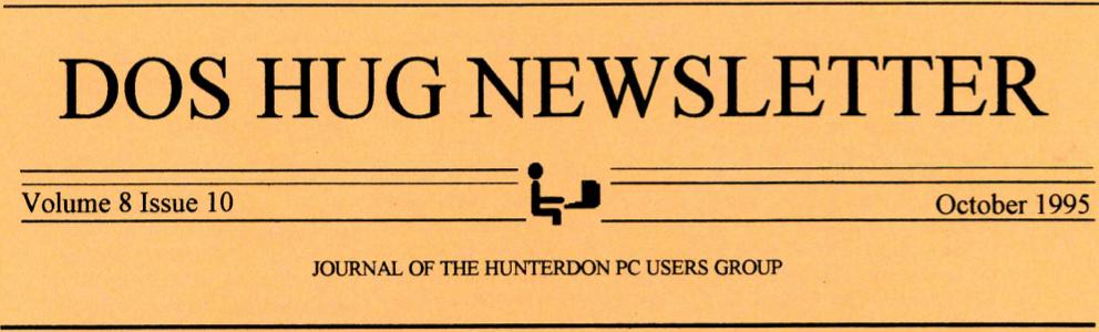 Hunterdon Computer Club October 1995 Newsletter Banner