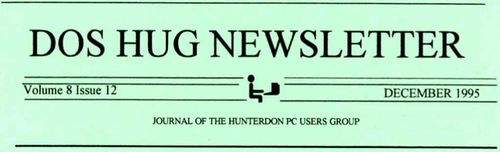 Hunterdon Computer Club December 1995 Newsletter Banner